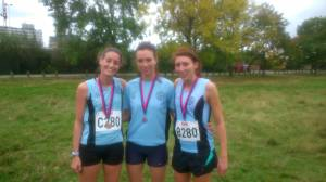 2014 TVH Gold Medal Winning Team: Lisa da Silva, Sheena Allport and Kirsty Addy