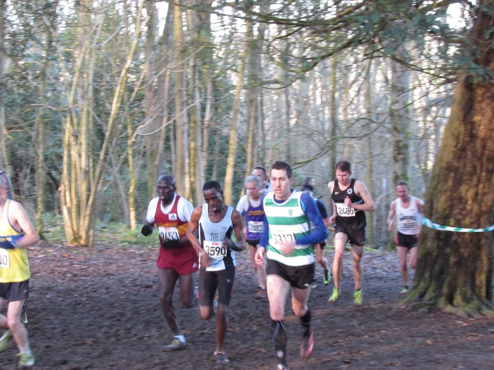 Mo Aadan leads the way in the men's race.
