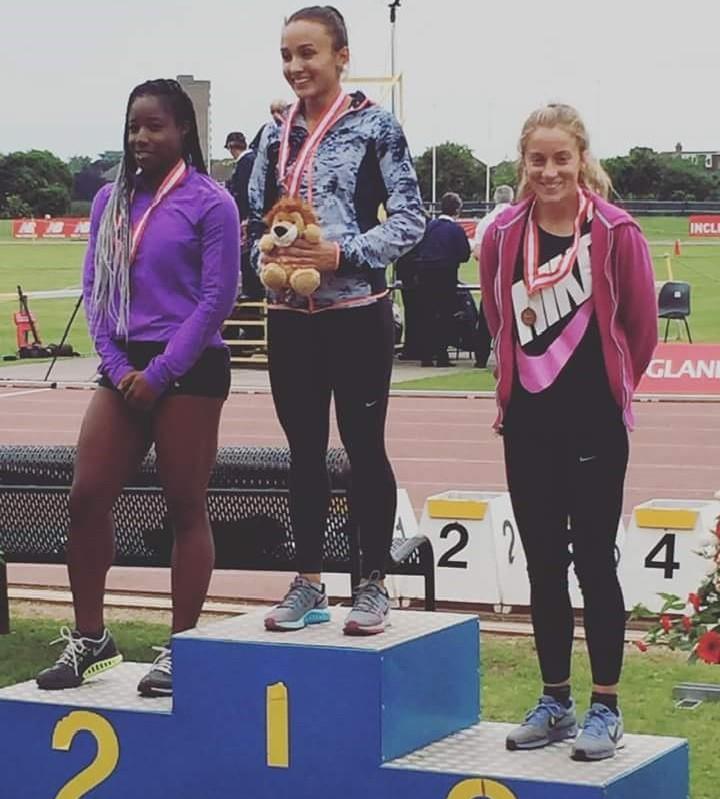 Clieo Stephenson U23 100m Champion