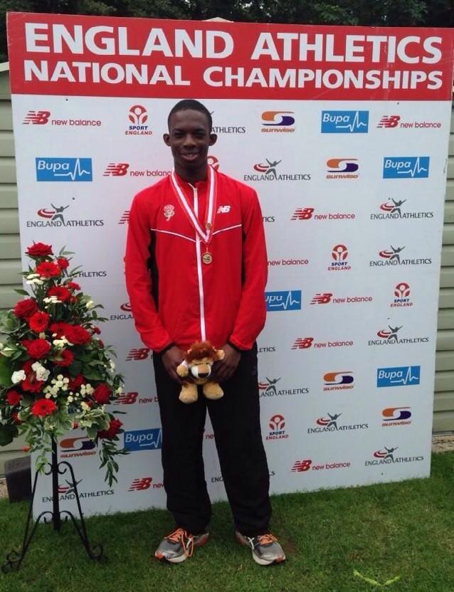 Jude Bright-Davies U20 triple jump champion