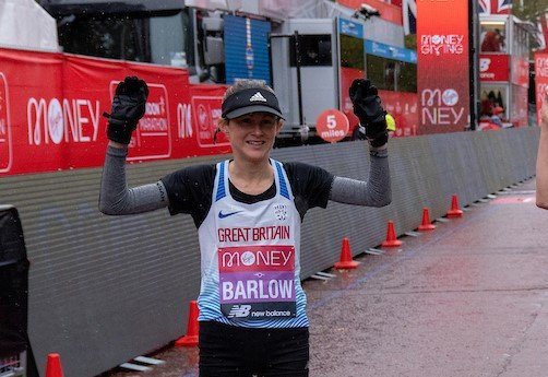 Tracy Barlow at the London Marathon 2020